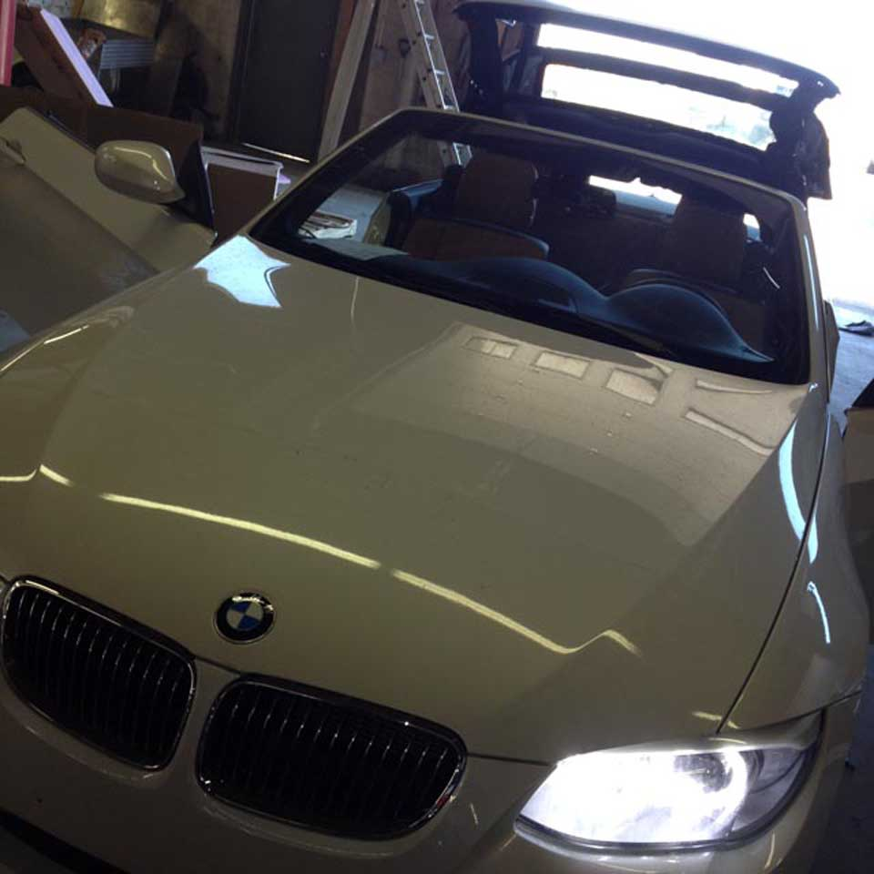 front view of BMW convertible
