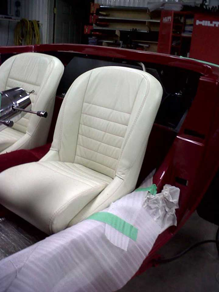 white colour car upholstery
