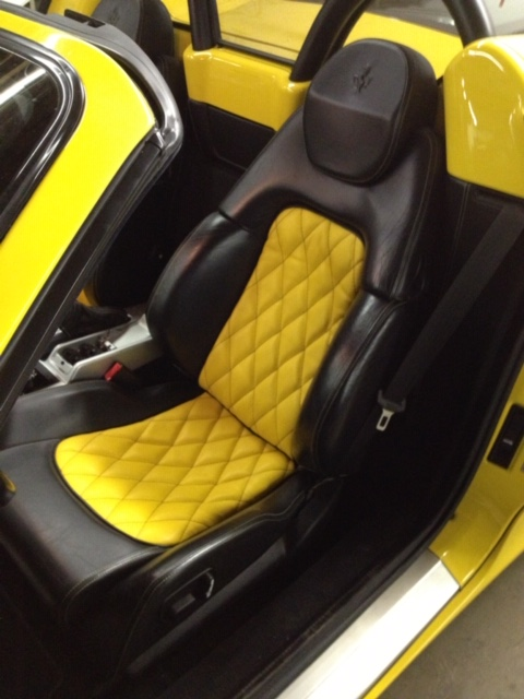 Black and yellow upholstery