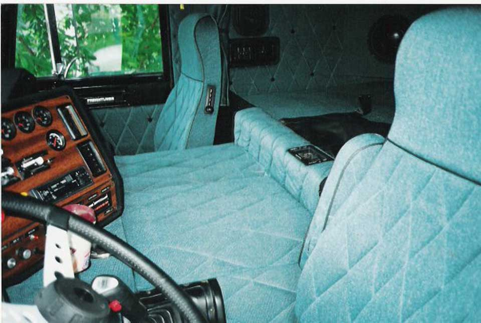 View of car upholstery