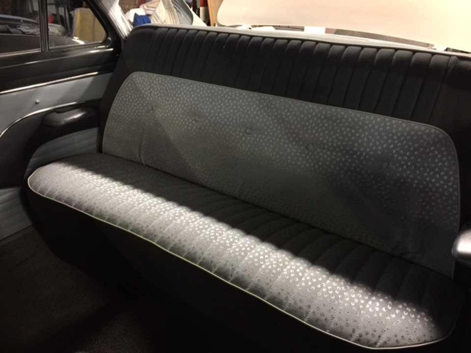 back seat upholstery