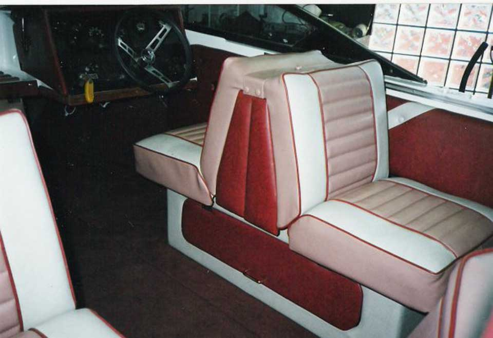light pink boat upholstery